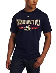 MLB Men's Chicago White Sox 1981-1985 Cooperstown Baseball Tickets Short Sleeve Basic Tee (Athletic Navy, Small)