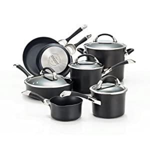 Circulon Symmetry Hard Anodized Nonstick Cookware Set, 11-Piece