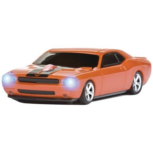 Wireless Mouse - Challenger Srt8 Hemi Orange With Black Stripes