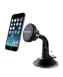 Car Mount, Magnet Universal Windshield & Dashboard Car Mount Cradle Holder for iPhone 6 Plus 5S 5C 5 4S; Samsung Galaxy S6 Edge S5 S4 S3, Note 4 3 2, HTC One M9 M8, Nexus 4 5, Blackberry Z10 Z30, LG Optimus, Motorola, Sony Xp