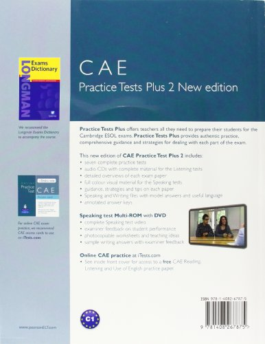 Practice Tests Plus CAE 2 New Edition Students Book with key with Multi-ROM and audio CD Pack