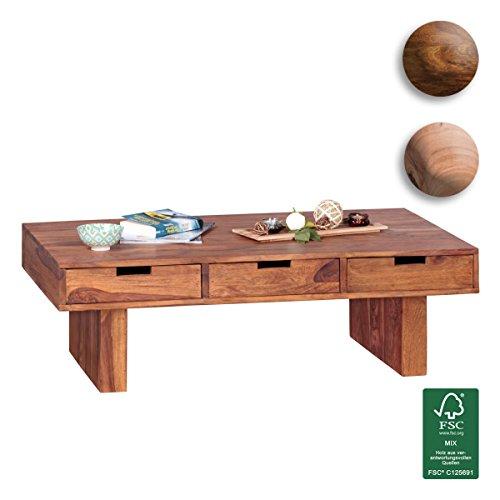 FineBuy-Couchtisch-Massivholz-Design-Wohnzimmer-Tisch-110-x-60-cm-3-Schubladen-Landhaus-Stil-Holztisch-rechteckig-Natur-Produkt-Massiv-Holz-Tisch-Wohnzimmer-Mbel-mit-Funktion-und-Stauraum