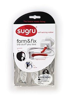Sugru SBW8 Self Setting Rubber, Black/White, 8-Pack