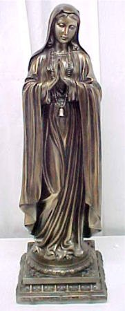 Bronze Finish Virgin Mary Statue Holy Mother Madonna