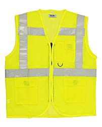 Club 21 Polyester Reflective Jacket (Yellow, RV-1004)