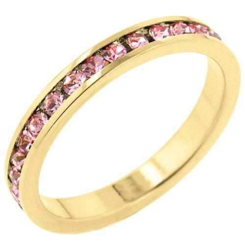 ISADY Paris Ladies Ring cz diamond ring ClaireOrpink5