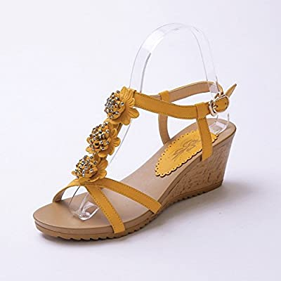 BalaMasa Ladies Floriation Romanesque Style Soft Material Sandals