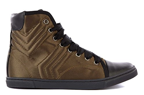 Lanvin scarpe sneakers alte donna in pelle nuove verde EU 37 AW5BHISATP7B