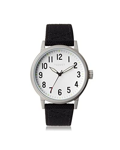 TSOVET Men's JPT-TF40 Field Black/Silver Canvas Watch