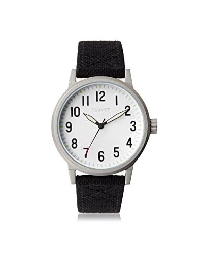 TSOVET Men's JPT-TF40 Field Black/Silver Canvas Watch
