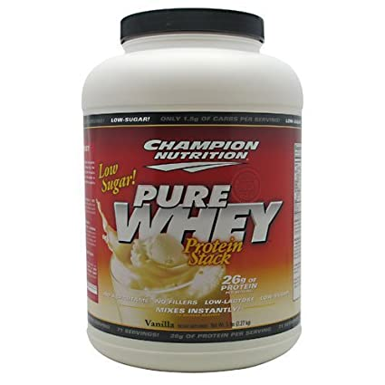 Champion Nutrition Pure Whey Protein Stack Vanilla 5lb Muscle Recovery by Champion Nutrition