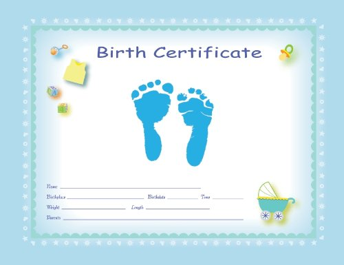 Ten Lil' Imprints Ten Lil' Imprints Tenlil'Imprints Footprint Birth Kit, Blue