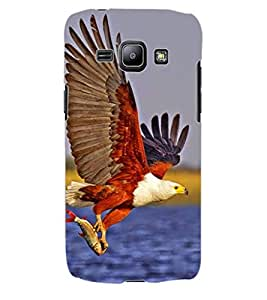 ColourCraft Attacking Hawk Design Back Case Cover for SAMSUNG GALAXY J1