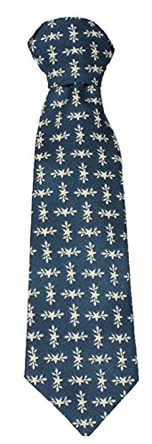 """Little Things Mean A Lot Little Boys 8"""" Cotton Special Occasion Tie Blue Stars"""