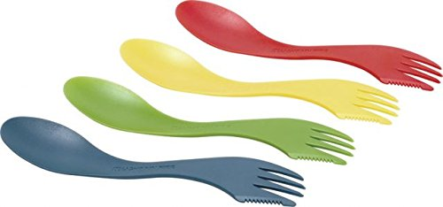 Light My Fire Spork 4-Pack - Assorted (Blue, Red, Yellow, Green Apple)