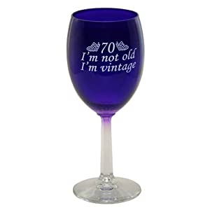 Amazon.com | 70 I'm Vintage Wine Glass: Wine Glasses
