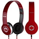 Case In Your Face® Red Deepbass HD folding headphones earphone for For Nokia Lumia 710