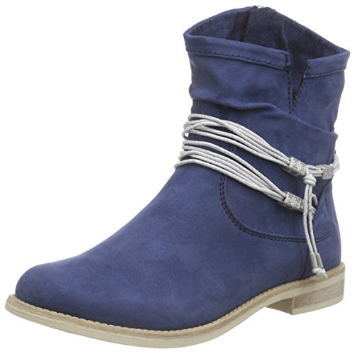 Marco Tozzi25306 - Stivali classici imbottiti a gamba corta Donna , Blu (Blau (OCEAN 803)), 37