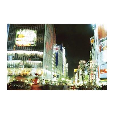 Tokyo, Japan (Shibuya Night Scene) Art Poster PRint Poster Poster Print, 36x24
