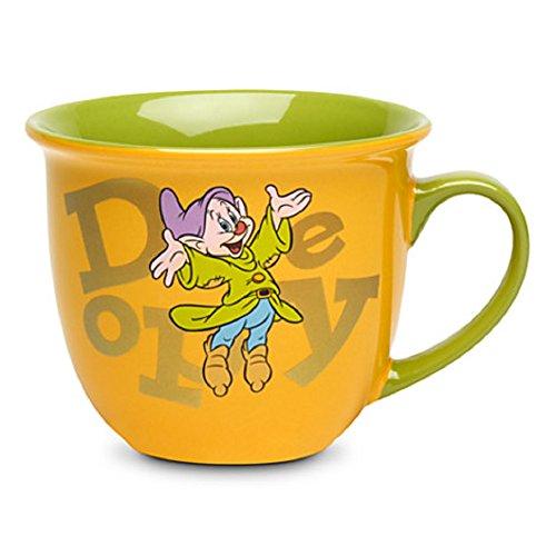 Disney Store Dopey Coffee Mug Cup Gold Green 2014 Dwarf