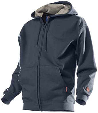 Benchmark Flame Resistant American Hooded Sweatshirt, Modacrylic Cotton Blend Fleece, HRC 2, Navy, XL (Pack of 1)