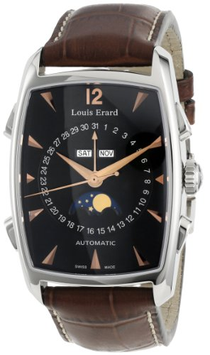 Louis Erard Men's 44211AA02.BDC50 1931 Automatic Tonneau Brown Perpetual Date Watch