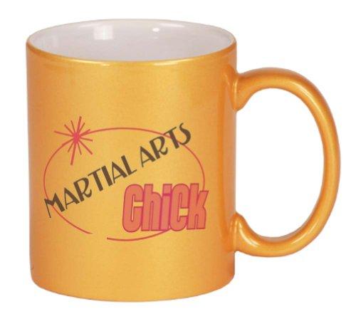 MARTIAL ARTS Chick Coffee Mug Metallic Gold 11 oz