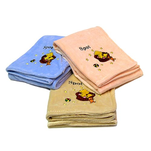 Nursery Products Spot Chamois Baby Blanket Dark Pink