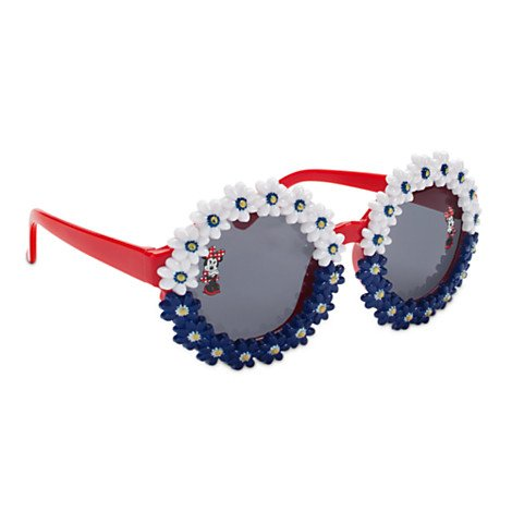 Minnie Mouse Red White and Blue Floral Sunglasses for Girls