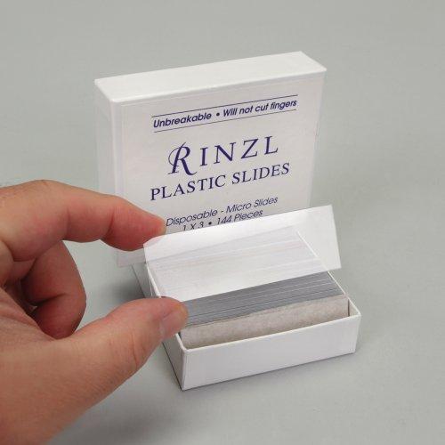 "Microscope Slides, Plastic, 3 X 1"", Box Of 144"