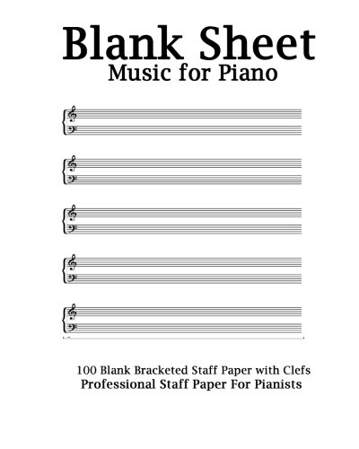 blank sheet music piano sketchbook gift accessory student