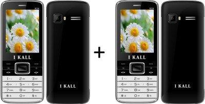 I KALL (K34BLACK+K34BLACK) Dual Sim Mobile Combo