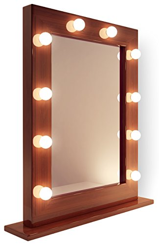 Dark Hollywood Makeup Dressing Room Mirror With Warm White Led Lamps K110Ww