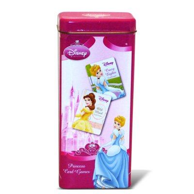 Disney Princess 2 Card Games in Tin Crazy Eights Old Maid