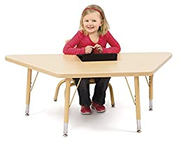 Berries 6443JCA251 Trapezoid Activity Tables, A-Height, 30\