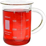 400ml Glass Beaker Mug with Handle 13.5oz