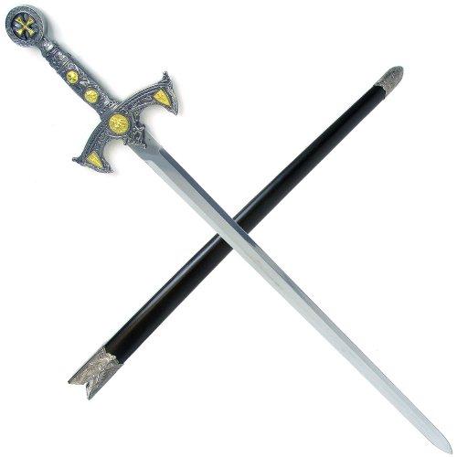 39 Inch Knight Templar Sword with Hard Scabbard