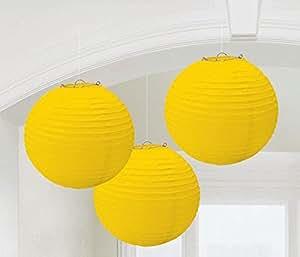 Amscan Yellow Paper Lanterns