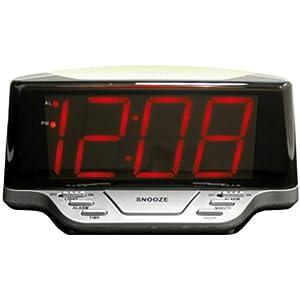 Geneva/Advance Clock 4084E LED Alarm Clock With Nightlight, Battery-Operated at Sears.com