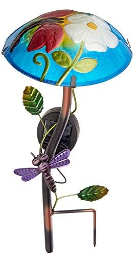Solar Light Mushroom Dragonfly Flower Art Design Garden
