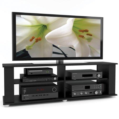 Sonax FS-3580 Fillmore 58-Inch TV Component Stand, Midnight Black