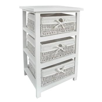 Pas cher premier housewares meuble de rangement 3 for Meuble rangement panier osier