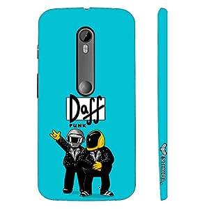 Enthopia Designer Hardshell Case Daff Punk Blue Back Cover for Motorola Moto G3