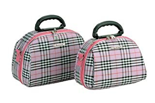 Rockland Luggage Rockland 2 Piece Cosmetic Set, Pinkcross, One Size