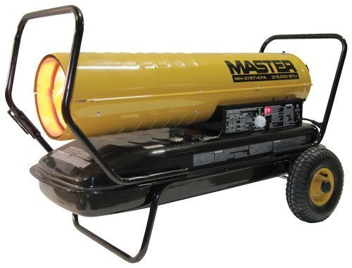Master MH-215T-KFA Kerosene Forced Air Heater with Thermostat, 215,000 BTU (Sq One Mall Hours)