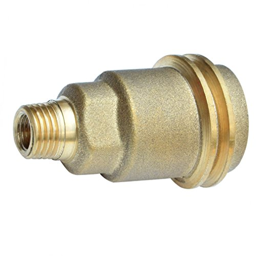 Onlyfire 5042 QCC1 ACME Nut Propane Gas Fitting Adaptor with 1/4 Inch Male Pipe Thread , Brass (Propane Bottle Connector And Hose compare prices)