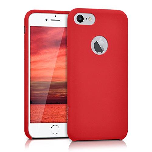 kalibri-Silikon-Hlle-matt-fr-Apple-iPhone-7-TPU-Schutzhlle-Case-in-Rot