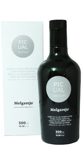 Melgarejo Picual Premium - Award Winning Cold Pressed EVOO Extra Virgin Olive Oil, 2013-2014 Harvest, 17-Ounce Glass bottle