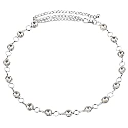 Generic Women's Fashion Crystal Waist Chain Belt for Wedding Dress 70cm