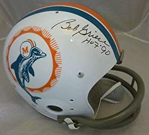 BOB GRIESE AUTOGRAPHED SIGNED MIAMI DOLPHINS TK THROWBACK HELMET w HOF 90 -... by Sports Memorabilia